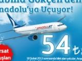 AnadoluJet Sabiha Gökçen'den 54 TL'ye Uçuracak!